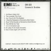 OK Go Covers & B-Sides USA CD-R acetate Promo