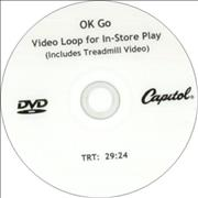 OK Go Video Loop For In-Store Play USA promo DVD-R