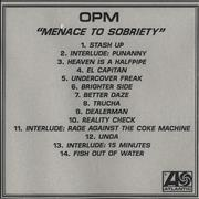 Click here for more info about 'OPM - Menace To Sobriety'