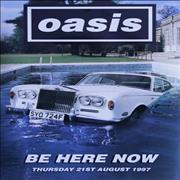 Click here for more info about 'Oasis - Be Here Now - Car In Pool Image'