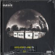 Click here for more info about 'Oasis (UK) - Don't Believe The Truth - Sealed - Promo Stickered'