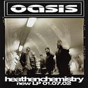 Click here for more info about 'Oasis (UK) - Heathen Chemistry - Glossy Card Flyer'