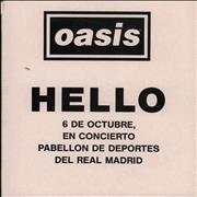 Click here for more info about 'Oasis - Hello'