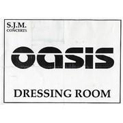 Oasis (UK) Laminated Dressing Room Sign UK memorabilia Promo