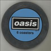 Oasis Popsters Coasters - Tin Box UK memorabilia Promo