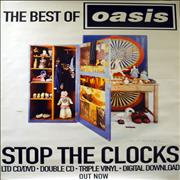 Click here for more info about 'Oasis (UK) - The Best Of - Stop The Clocks - Peter Blake'