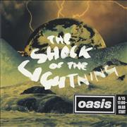 Click here for more info about 'Oasis (UK) - The Shock Of The Lightning - Japanese Stickered'