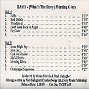 Click here for more info about 'Oasis (UK) - (What's The Story) Morning Glory Withdrawn'