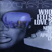 Click here for more info about 'Oasis (UK) - Who Feels Love?'