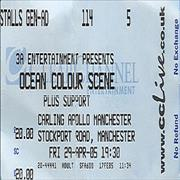 Click here for more info about 'Ocean Colour Scene - Carling Apollo Manchester - Ticket & Promotional Lighter'