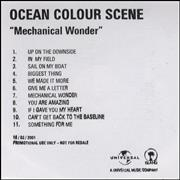 Click here for more info about 'Ocean Colour Scene - Mechanical Wonder'