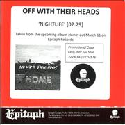 Click here for more info about 'Off With Their Heads - Nightlife'