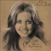 Click here for more info about 'Olivia Newton John - First Impressions - blue & tan label'