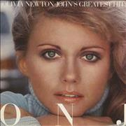 Click here for more info about 'Olivia Newton John - Greatest Hits - Cream label'
