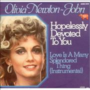 Click here for more info about 'Hopelessly Devoted To You - Pic Sleeve'