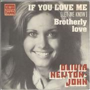 Click here for more info about 'Olivia Newton John - If You Love Me (Let Me Know) + Sleeve'