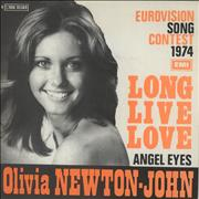 Click here for more info about 'Olivia Newton John - Long Live Love - smooth sleeve - orange titles'