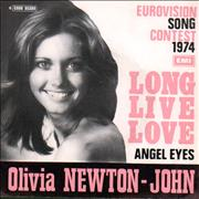 Click here for more info about 'Olivia Newton John - Long Live Love - textured sleeve - orange titles'