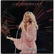 Olivia Newton John Love Performance + poster Japan vinyl LP
