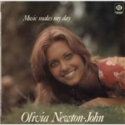 Olivia Newton John Music Makes My Day - Blue Label UK vinyl LP