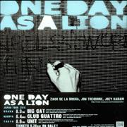Click here for more info about 'One Day As A Lion - Japan Tour 2010'
