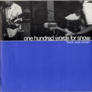 Click here for more info about 'One Hundred Words For Snow - Back Seat Driver / Mourning A Third Day'