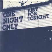 Click here for more info about 'One Night Only - Just For Tonight'