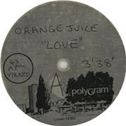Click here for more info about 'Orange Juice - L.O.V.E... Love'