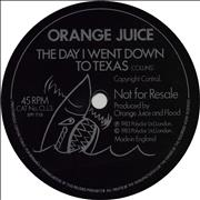 Click here for more info about 'Orange Juice - The Day I Went Down To Texas - Flexi'