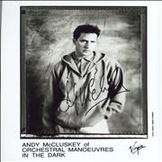 Click here for more info about 'Orchestral Manoeuvres In The Dark - Autographed Andy McClusky Publicity Photograph'
