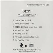 Click here for more info about 'Orgy - Blue Monday'