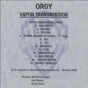 Click here for more info about 'Orgy - Vapor Transmission - 13-track'