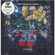 Original Soundtrack Friday The 13th Part 3 3D - White With Red Splatter Vinyl USA 2-LP vinyl set