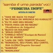 Click here for more info about 'Os Caretas - Pesquisa Ibope (Samba É Uma Parada Vol. I)'