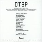Otep The Ascension USA CD-R acetate Promo