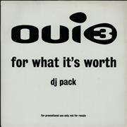 Click here for more info about 'Oui 3 - For What It's Worth - Double Pack'