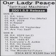 Click here for more info about 'Our Lady Peace - Spiritual Machines'