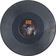 "Ozzy Osbourne Bark At The Moon - Silver vinyl UK 12"" vinyl"