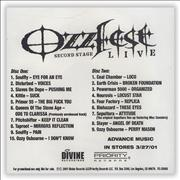 Click here for more info about 'Ozzy Osbourne - Ozzfest Live'