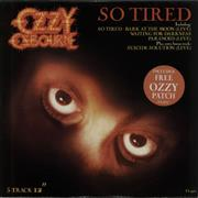 Click here for more info about 'Ozzy Osbourne - So Tired EP + Patch'