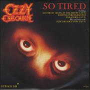 Click here for more info about 'Ozzy Osbourne - So Tired'