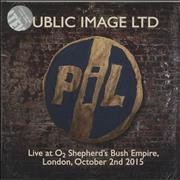 Click here for more info about 'P.I.L. - Live At O2 Shepherd's Bush Empire, London, October 2nd 2015'