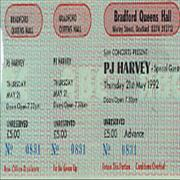 Click here for more info about 'P.J. Harvey - 1992 - Unused Concert Ticket'