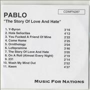Click here for more info about 'Pablo - The Story Of Love And Hate'