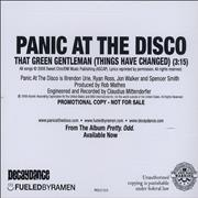 Click here for more info about 'Panic At The Disco - That Green Gentleman [Things Have Changed]'