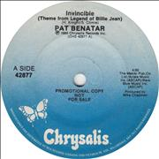 Click here for more info about 'Pat Benatar - Invincible (Theme From The Legend Of Billie Jean)'
