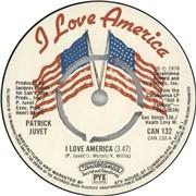 """Patrick Juvet I Love America - 4pr UK 7"""" vinyl"""