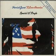 "Patrick Juvet I Love America - Blue Vinyl - EX UK 12"" vinyl"