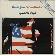 "Patrick Juvet I Love America - Blue Vinyl UK 12"" vinyl"