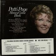 Click here for more info about 'Patti Page - Honey Come Back'